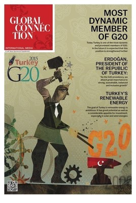 """Edited by Global Connection, the first issue of """"G20 in Turkey"""", the official publication of G20, has been published on 17 October 2015 together with The Daily Telegraph in the UK, subsequently on 19 October 2015 with Komsomolskaya Pravda and Kommersant in Russia, with Gulf News in the United Arab Emirates, with Die Welt and Welt Kompakt in Germany, and on 20 October 2015 with Le Figaro in France. The paper will subsequently be published featuring new content on 9 November 2015 with Komsomolskaya Pravda and Kommersant in Russia. G20 news contents will also be found in their entirety on important online sites such as  www.kp.ru ,  www.welt.de and  www.lemonde.fr . (PRNewsFoto/Global Connection Media S.A.) (PRNewsFoto/Global Connection Media S.A.)"""