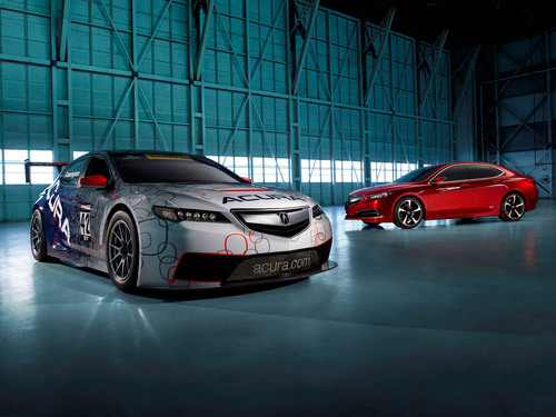 2015 Acura TLX GT Race Car debuts at North American International Auto Show 1-14. (PRNewsFoto/Acura) ...