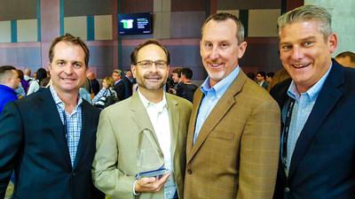 FusionStorm team receiving Dell EMC's 2016 Enterprise Solution Provider Partner of the Year Award.