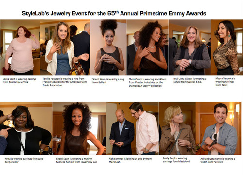 Celebrities Accessorized With Top Brands At StyleLab's Jewelry Event For The 65th Annual Primetime