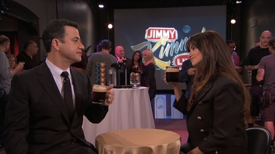 Something's Brewing Backstage at Jimmy Kimmel Live!... Jimmy Kimmel was distracted from his hosting duties last night by Penelope Cruz and the Nespresso VertuoLine coffee she brought to the show. To watch what happened go to http://bit.ly/jimmyjoins. (PRNewsFoto/Nespresso)