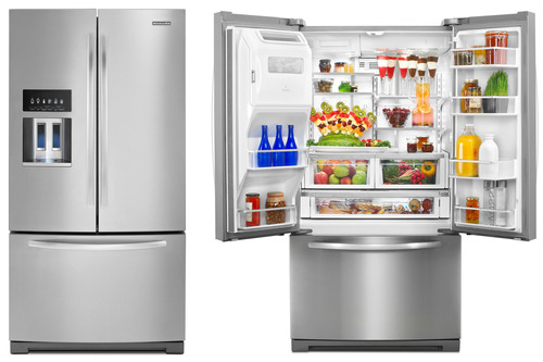 New KitchenAid® French Door Refrigerators Keep Ingredients Fresher Longer  With Advanced Food Care System