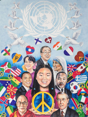 Jenny Park, a 13-year-old student from California, has been named the grand prize winner of the Lions International Peace Poster Contest.  (PRNewsFoto/Lions Clubs International)