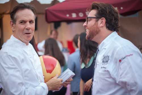 Thomas Keller and Scott Conant at LAFW 2013 (PRNewsFoto/Los Angeles Food & Wine)