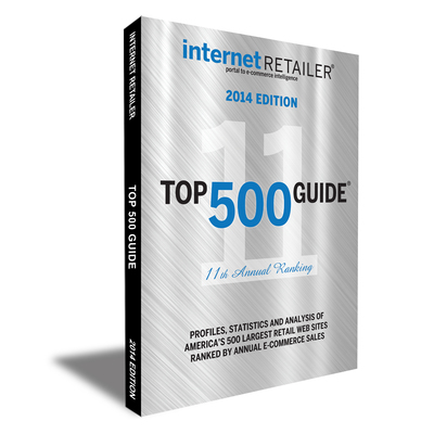 The 448-page Internet Retailer 2014 Top 500 Guide ranks and profiles North America's 500 largest web merchants by annual online sales and other key metrics. (PRNewsFoto/Vertical Web Media)