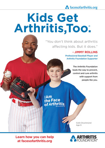 Philadelphia Phillies player, Jimmy Rollins, featured in new Arthritis Foundation ads highlighting juvenile arthritis at www.facesofarthritis.org.  (PRNewsFoto/Arthritis Foundation)