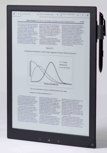 Sony's Digital Paper.  (PRNewsFoto/Sony Electronics)