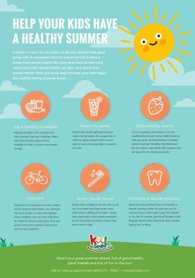 Infographic: Six Tips to Keep Kids' Teeth Healthy All Summer Long