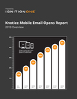New Research Finds 48 Percent of Emails are Opened on Mobile Devices Overall. Data from Knotice's Latest Mobile Email Opens Report Finds Many Industries Have Passed the Mobile Tipping Point, Analyzes Timelines of Open Activity, Popular Mobile Devices and more. (PRNewsFoto/Knotice)