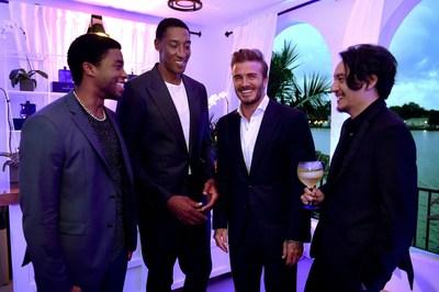 Chadwick Boseman, Scottie Pippen, David Beckham & Chang Chen at HAIG CLUB Miami (PRNewsFoto/HAIG CLUB) (PRNewsFoto/HAIG CLUB)