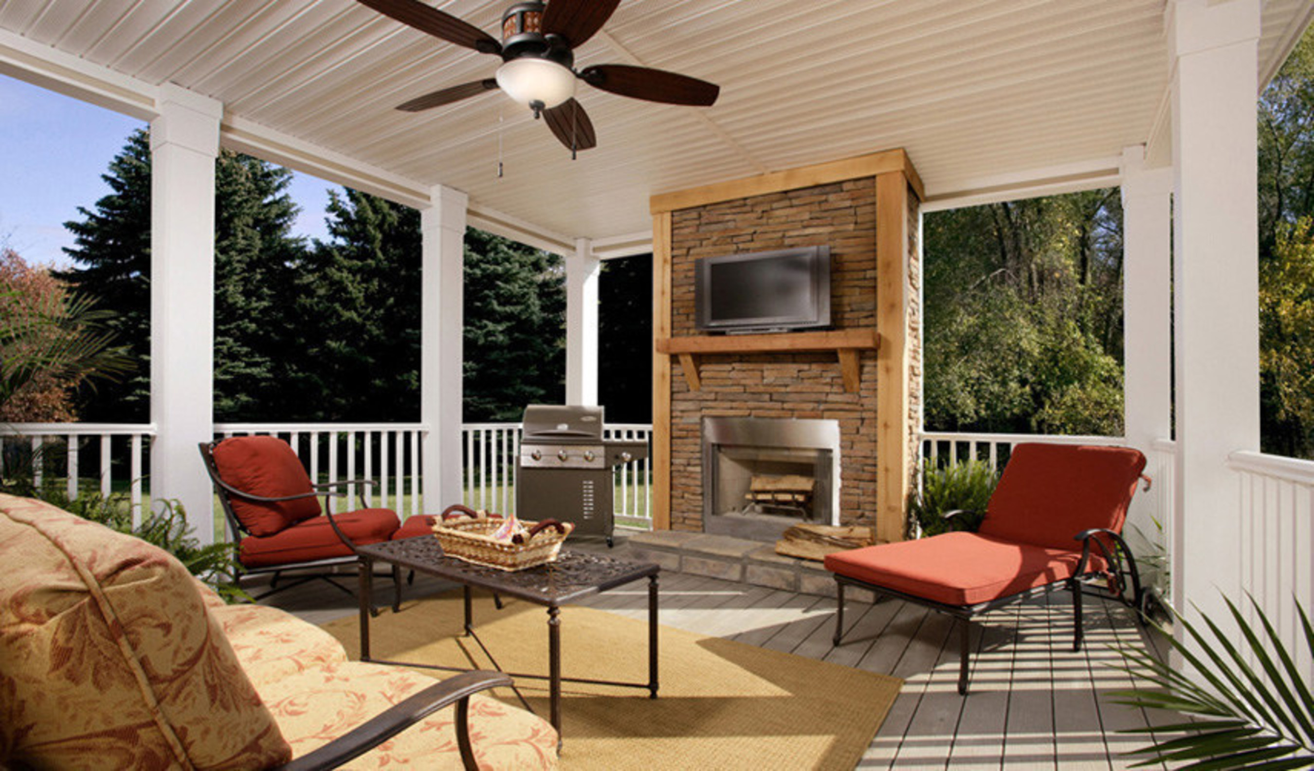 Clayton homes reveals top outdoor living spaces for summer - Outdoor living spaces with fireplace ...
