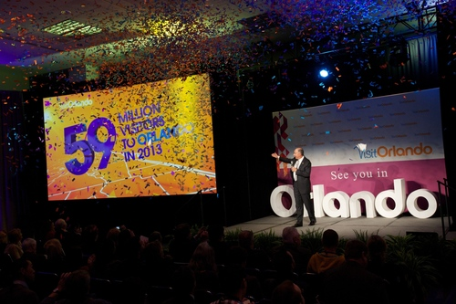 Visit Orlando President and CEO George Aguel announced that Orlando welcomed 59 million visitors in calendar ...