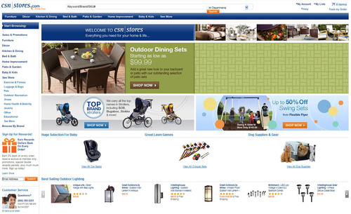 Csn stores becomes second largest online retailer of home for Online home goods store