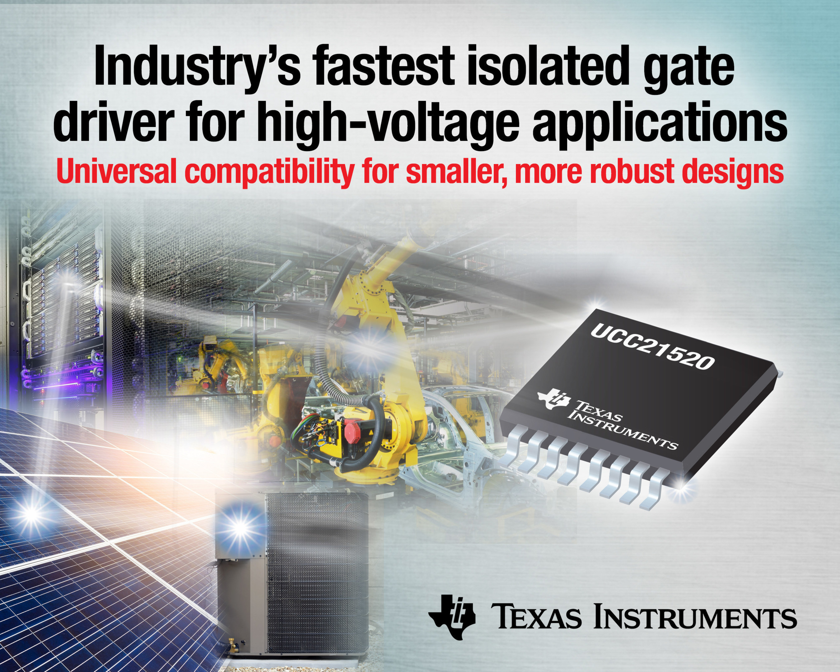 TI introduces the industry's fastest isolated gate driver for high-voltage applications