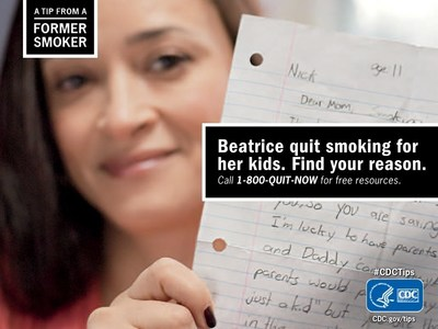 Beatrice as part of CDC Tips from Former Smokers campaign talks about her children being her motivation to quit smoking.