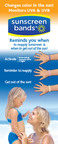 Sunscreen Bands(TM) Hit National Retail Shelves.  (PRNewsFoto/JADS International, LLC)