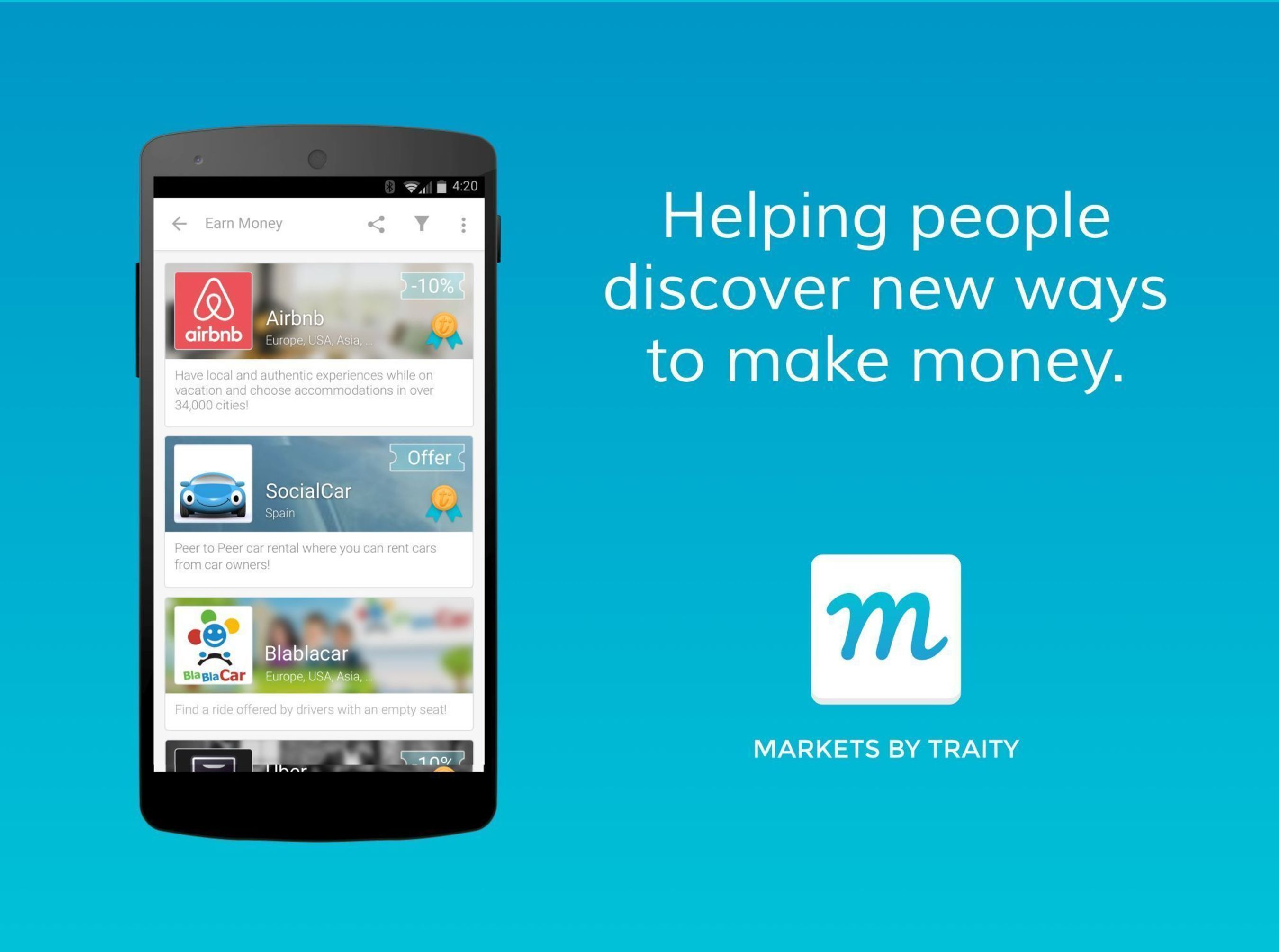 Traity is helping people discover new ways to make money (PRNewsFoto/Traity)
