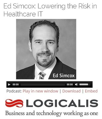 Listen to Logicalis' Ed Simcox discuss Lowering the Risk in Healthcare IT (http://ow.ly/Bnsps) (PRNewsFoto/Logicalis US)