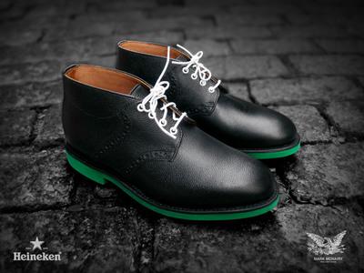 #Heineken100 Mark McNairy Black Chukka Saddle Boot.  (PRNewsFoto/HEINEKEN USA Inc.)
