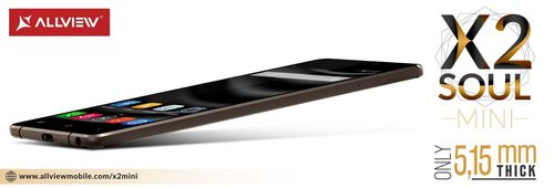 Allview Launches Mini Version of X2 Soul, Smartphone That Features a Slim Design, Nearly 5 mm (PRNewsFoto/Allview Mobile)