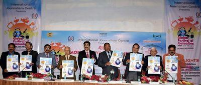 Eminent guests in picture: (L-R) Mr. Sushil Bharti, Mr. Laxmi Shanker Vajpeyi, Mr. Madhurendra Sinha, Mr. Yogendra Narain, Mr. Sandeep Marwah, HE Mbuya Isaac G Munro, Mr. S. C. Tripathi, Dr. K. D. Gupta, Mr. Maann Singh Deep.