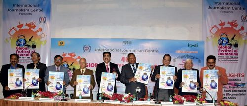 Eminent guests in picture: (L-R) Mr. Sushil Bharti, Mr. Laxmi Shanker Vajpeyi, Mr. Madhurendra Sinha, Mr. ...
