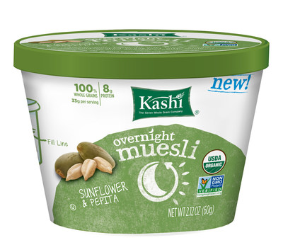 Packed with whole grains such as barley and rye and super fruits and seeds such as tangy cherries, crunchy pepitas and chia, Kashi's organic Overnight Muesli provides nourishing goodness in three unique flavors.