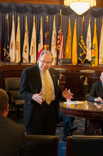 Jack Fitzgerald, founder of ASSET, at a briefing on Capitol Hill on the estate tax on the eve of the government shutdown in October 2013. (PRNewsFoto/Americans Standing for the Simplification of the Estate Tax (ASSET)) (PRNewsFoto/ASSET)