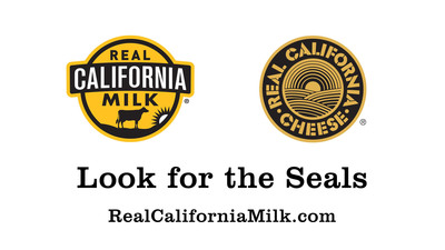 Look for the Seals: Real California Milk and Real California Cheese.