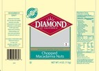 Diamond of California(R) Chopped Macadamia Nuts 4oz packages
