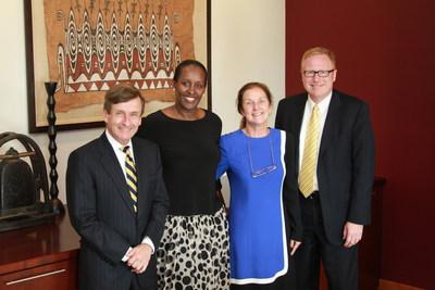 Rwanda First Lady Jeannette Kagame at Emory University September 19, 2014 (Courtesy Photo) (PRNewsFoto/KT Press)