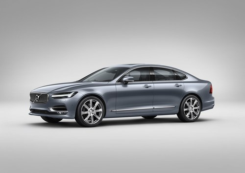 Front Quarter Volvo S90 Mussel Blue (PRNewsFoto/Volvo Car Group) (PRNewsFoto/Volvo Car Group)