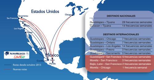 Mapa de Aeromexico Contigo.  (PRNewsFoto/Aeromexico)