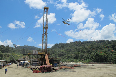 InterOil's Antelope-3 well in Papua New Guinea.  (PRNewsFoto/InterOil Corporation)