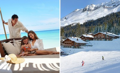 Dive into fun and sun at Club Med Cancun Yucatan or hit the slopes for thrill and chill at Club Med Valmorel in the French Alps (PRNewsFoto/Club Med)