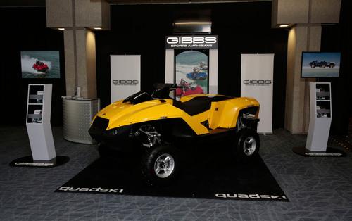 GIBBS at the Detroit Auto Show. (PRNewsFoto/Gibbs Sports Amphibians, Inc.) (PRNewsFoto/GIBBS SPORTS AMPHIBIANS,  ...