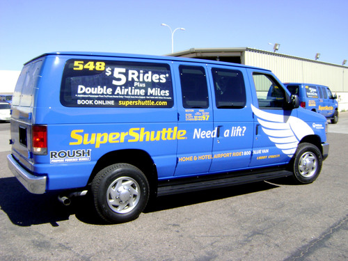 SuperShuttle Finding ROUSH Propane Vans Effective Tools in Reducing Costs and Meeting Airport
