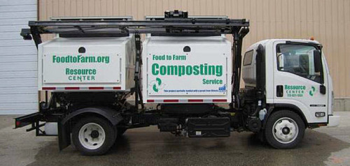 The Resource Center's Compost Truck.  (PRNewsFoto/FarmedHere LLC)