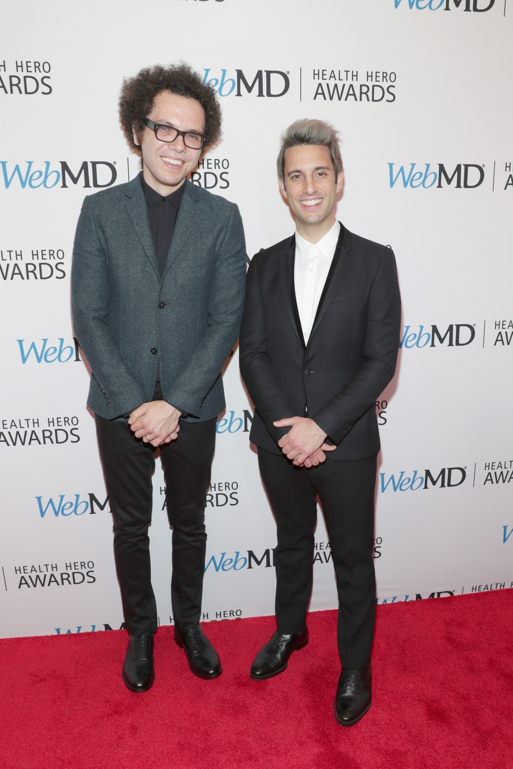 Ian Axel (L) and Chad King of A Great Big World attend the 2016 WebMD Health Heroes Awards on November 3, 2016 in New York City.