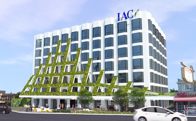 A rendering of the IAC Building at 8800 Sunset Blvd, West Hollywood, CA (PRNewsFoto/IAC)