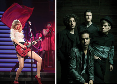 "Seven-Time GRAMMY(R) Award Winner Taylor Swift And GRAMMY Award-Nominated Artist Fall Out Boy To Perform On ""The Victoria's Secret Fashion Show,"" Tuesday, Dec. 10 On The CBS Television Network.  (PRNewsFoto/Victoria's Secret)"