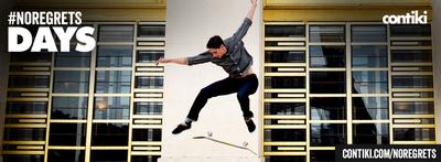 Sammy Winters skates Cite de la Mode et du Design, Paris.  (PRNewsFoto/Contiki Vacations)
