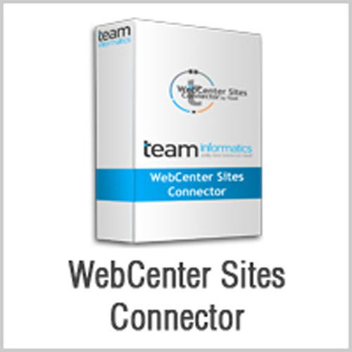 TEAM WebCenter Sites Connector.  (PRNewsFoto/TEAM Informatics, Inc.)