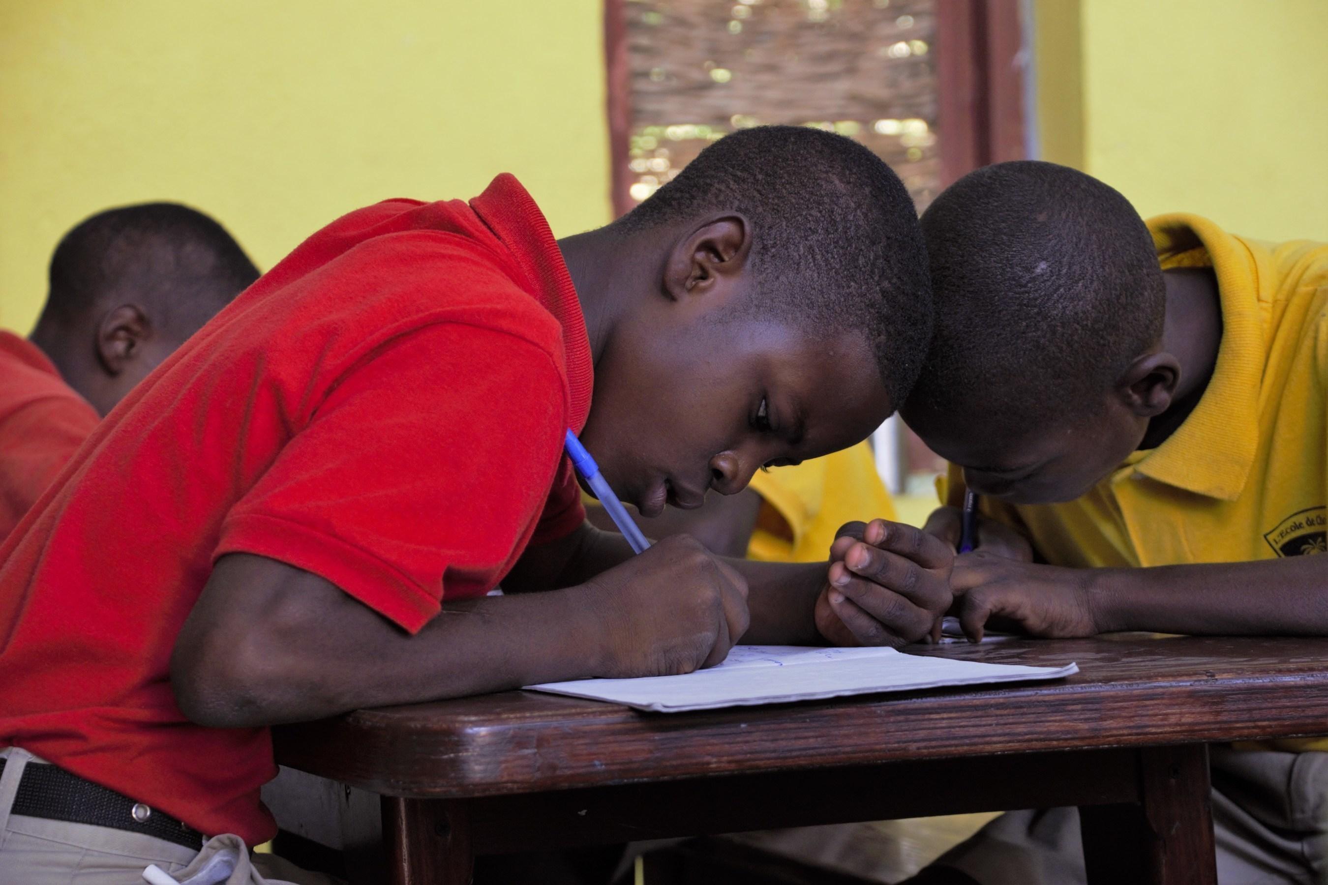 Future leaders study at L'Ecole de Choix school in Mirebelais, Haiti.
