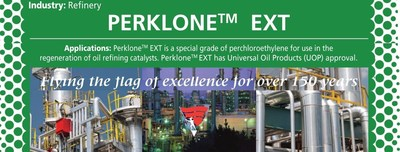 World's Sole Owner of PERKLONE and TRIKLONE now supplying USA and Canada Oil & Petroleum Refineries; PERKLONE EXT; UOP Approved (PRNewsFoto/Banner Chemicals UK)