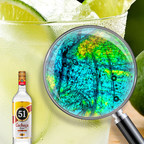 Under the microscope Cachaca 51 Caipirinha is a vibrant work of art, featuring a collage of blues, greens and yellows. (PRNewsFoto/Gemini Spirits & Wine)
