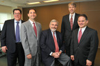 Arent Fox New York Welcomes Its New Partners and Counsel -- From left to right: Paul M. Fakler, Alan R. Lyons, Ross J. Charap, Julius A. Rousseau, Elliott M. Kroll.  (PRNewsFoto/Arent Fox LLP, Diane Bondareff)