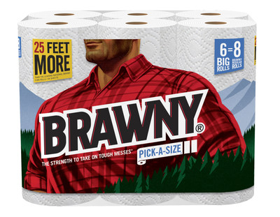 "Brawny(R) brings back larger-than-life lumberjack in new ""Stay Giant(TM)"" campaign"