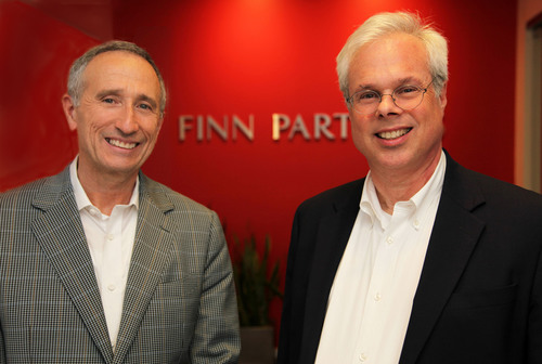 Peter Finn of Finn Partners and Scott Widmeyer of Widmeyer Communications complete acquisition, as Finn Partners expands Public Affairs and Education expertise with highly respected DC-based firm.  (PRNewsFoto/Finn Partners)