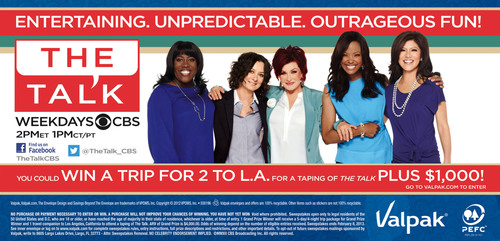 Valpak Brings the Hosts From CBS's 'The Talk' to the Blue Envelope and Offers Chance to Win Trip to